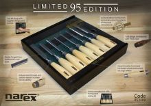 NAREX 853400 Limited Edition 95th Anniversary 8 Piece Bevel Edge Chisel Set - �120.00 INC VAT