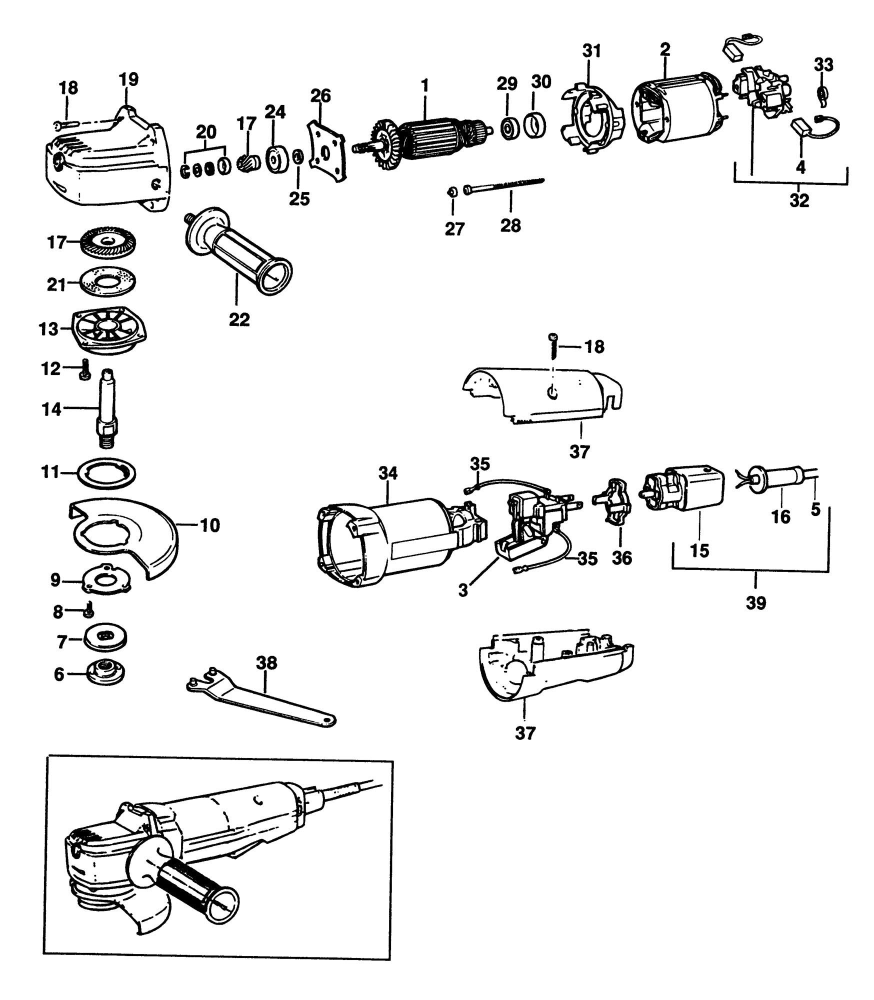spares for black  u0026 decker pl80 sander  grinder  type 2