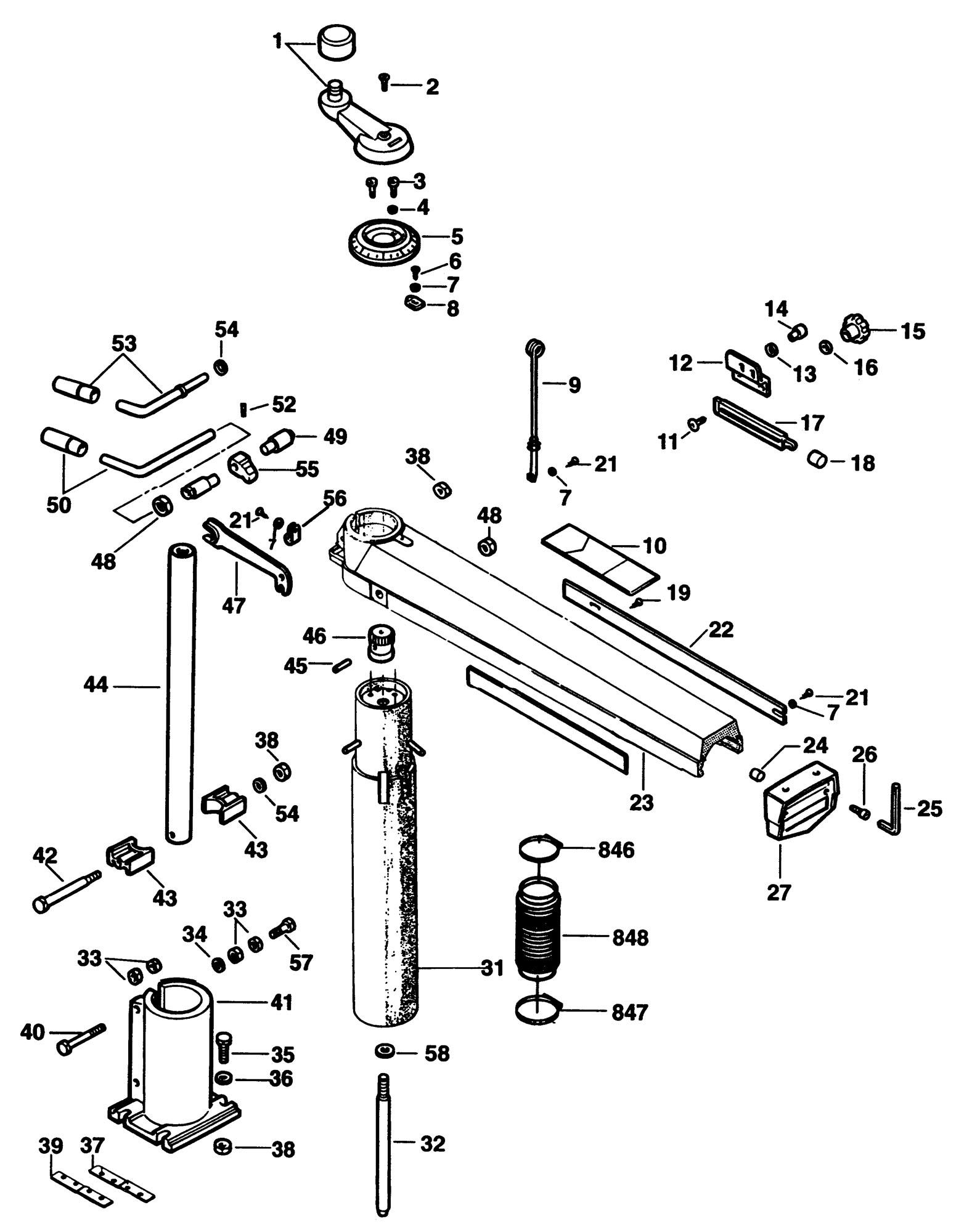 spares for dewalt dw1751 a radial arm saw  type 1 dewalt 770 radial arm saw parts list De Walt Radial Arm Saw Motor