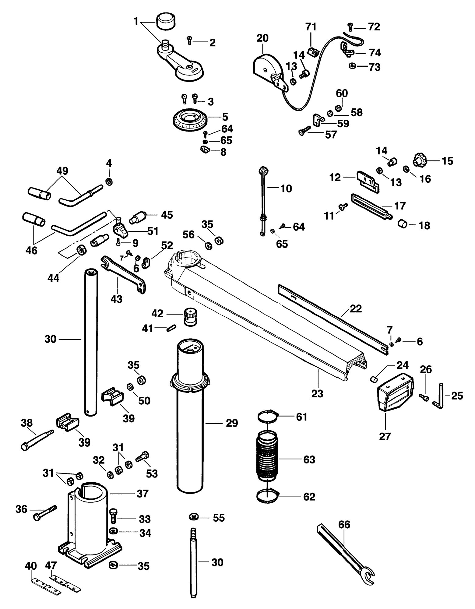 Radial arm saw diagramlta 670 table saw wiring diagram wiring craftsman 10 table saw wiring diagram spares for elu ras8001 greentooth Image collections