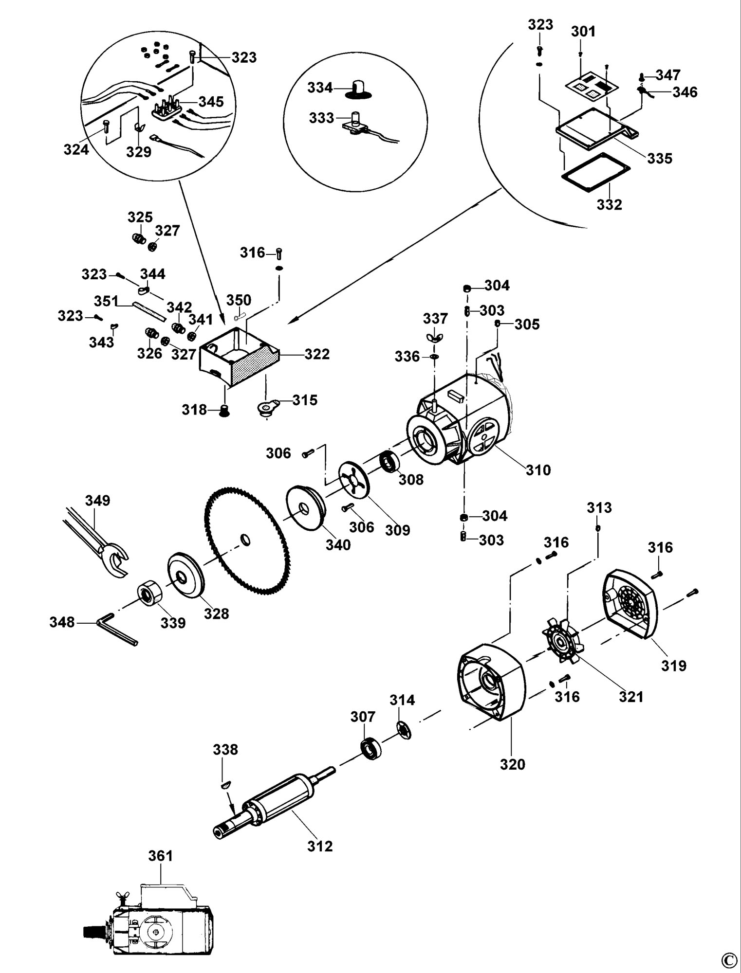 Spares For Dewalt Dw729 Radial Arm Saw  Type 2  Spare