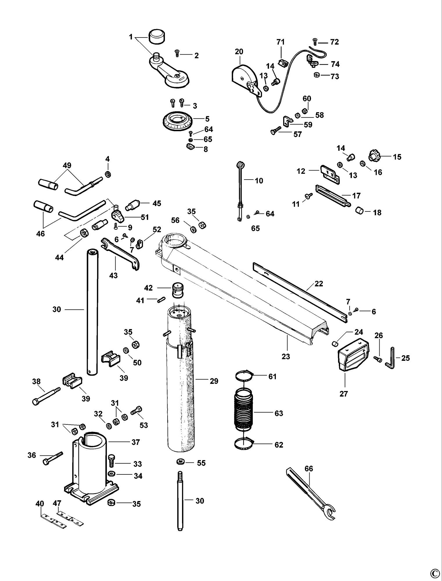 spares for dewalt dw721 radial arm saw  type 3  spare De Walt Radial Arm Saw Motor De Walt Radial Arm Saw Models