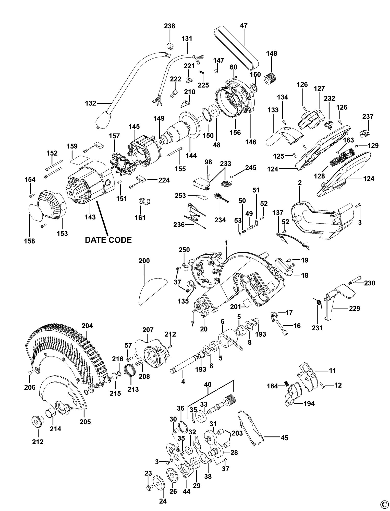 dewalt saw parts diagram