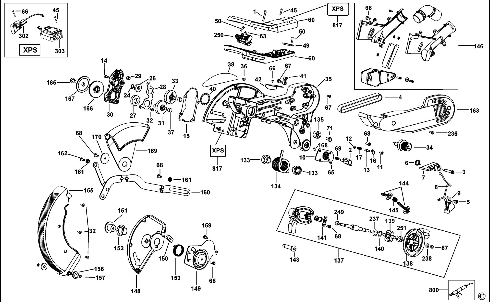 spares for dewalt d27107 combination saw type 4 spare d27107 click for bigger diagram click for bigger diagram
