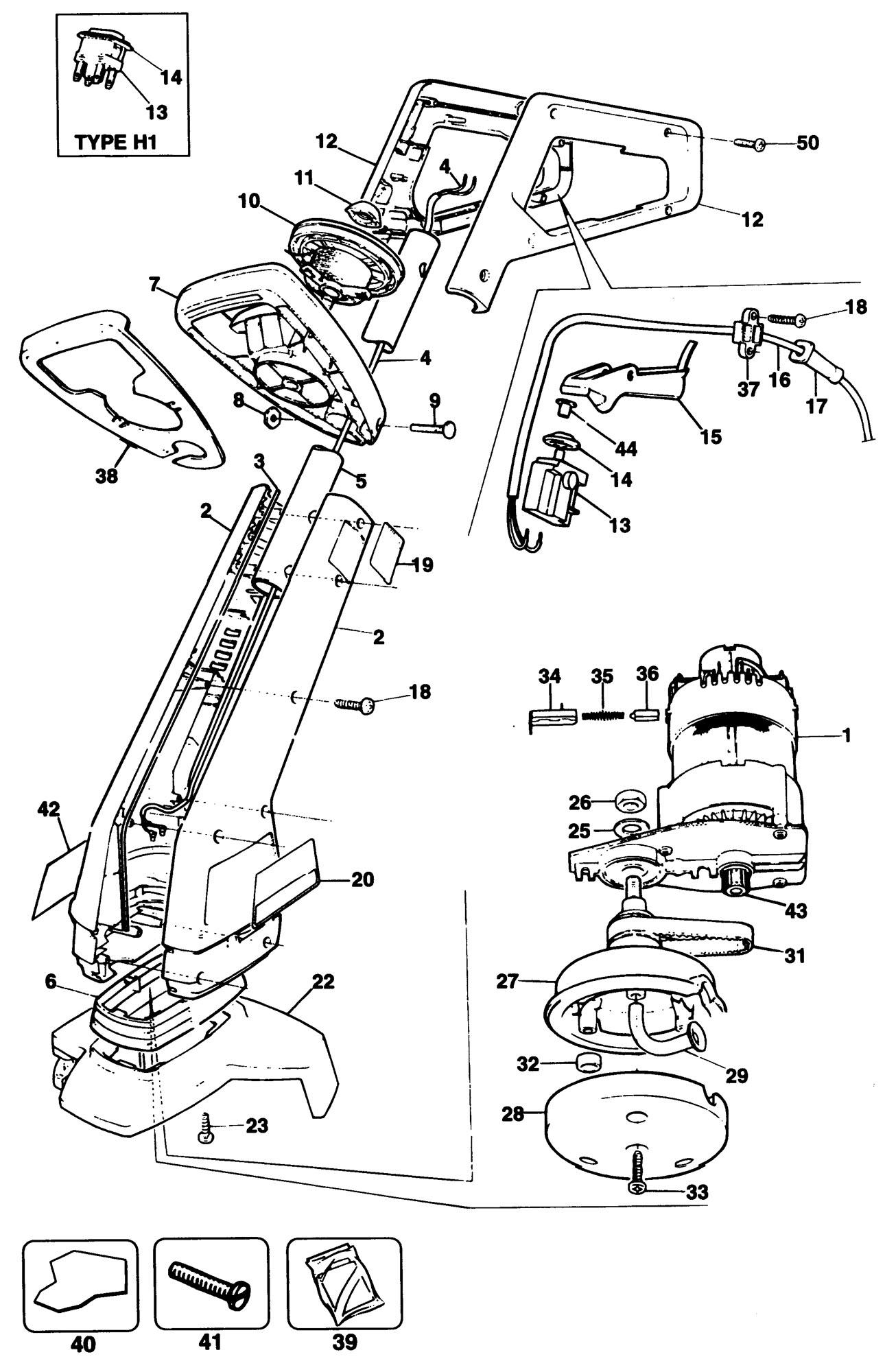 Spares for Black & Decker Gl620 String Trimmer (type 1 ...