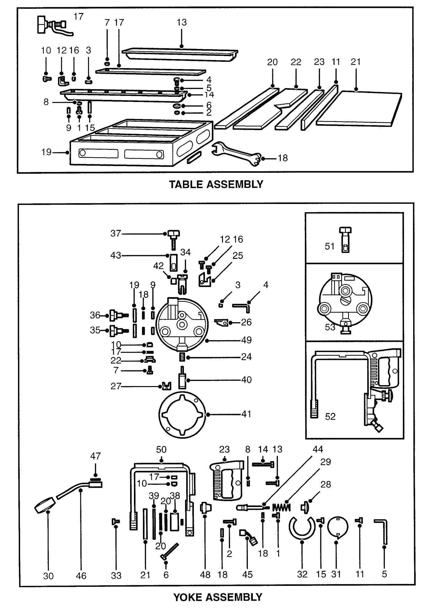 spares for dewalt dw125 b radial arm saw  type 1 De Walt Radial Arm Saw Accessories dewalt 770 radial arm saw parts list