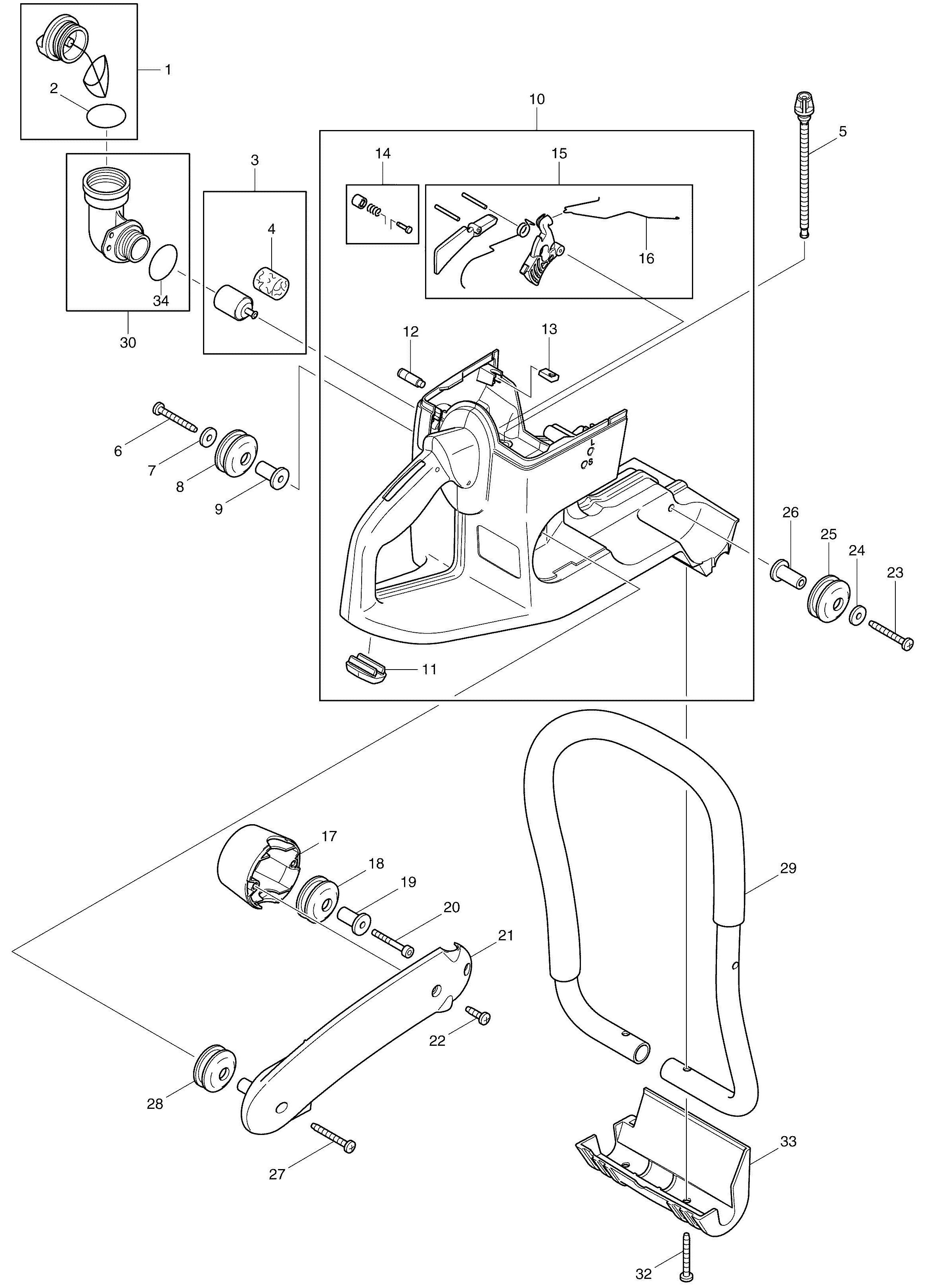 spares for makita dpc6400 petrol disc cutter spare dpc6400