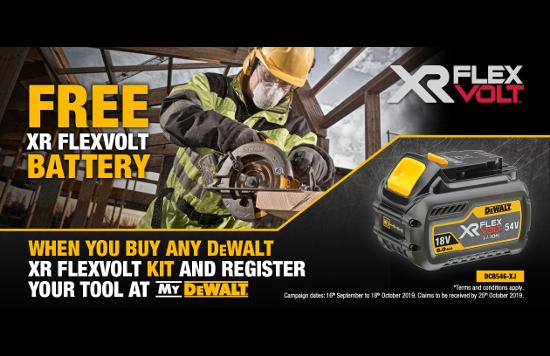 dewalt free battery