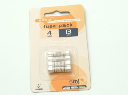 SMJ 13 Amp Fuses Electrical Fittings (pack of 4)