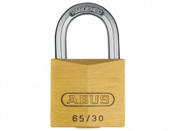 Abus 65/30 Brass Padlock Nano Protect Coating Carded 09850