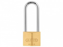 Abus 65/40 HB63 Brass Padlock Long Shackle Carded 09857
