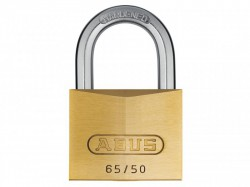 Abus 65/50 Solid Brass Padlock Carded 09854