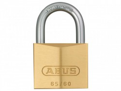 Abus 65/60 Solid Brass Padlock Carded 09855