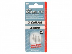 Maglite LM2A001 Pack of 2 Super Bright Replacement Xenon Bulb Lamp for 2 Cell AA Lights