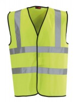 Large Hi-Vis Yellow 2 B&B Vest