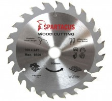Spartacus 160 x 24T x 20mm Wood Cutting Circular Saw Blade