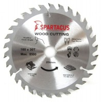 Spartacus 160 x 30T x 20mm Wood Cutting Circular Saw Blade
