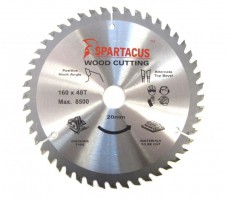 Spartacus 160 x 48T x 20mm Wood Cutting Circular Saw Blade