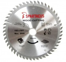 Spartacus 160 x 50T x 20mm Wood Cutting Circular Saw Blade