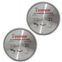 Spartacus 305 x 96T x 30mm Aluminium Cutting Circular Saw Blade Pack of 2