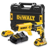DeWalt DCF620D2K 18 Volt XR Li-Ion Cordless Brushless Collated Drywall Screwdriver 2 x 2.0Ah Batteries