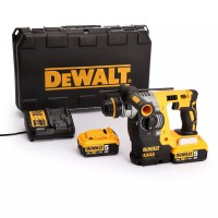 DeWalt DCH273P2 18 Volt Li-Ion XR Cordless Brushless SDS+ Plus 3 Mode Rotary Hammer Drill 2 x 5.0Ah Batteries in Kitbox