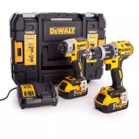 DeWalt DCK266P2T 18 Volt XR Li-Ion Cordless Brushless Combi Drill & Impact Driver Twin Pack 2 x 5.0Ah Batteries in TSTAK