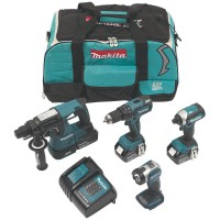 Makita DLX4111SM 18 Volt Li-Ion LXT Cordless Brushless 4 Piece Kit 3 x 4.0Ah Batteries