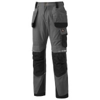 Dickies DP1005 Pro Holster Knee Pad Work Trousers - Grey/Black - Sizes 30 - 40