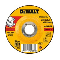 DeWalt DT42220 Metal Grinding Depressed Centre Angle Grinder Disc 115mm x 22.2mm