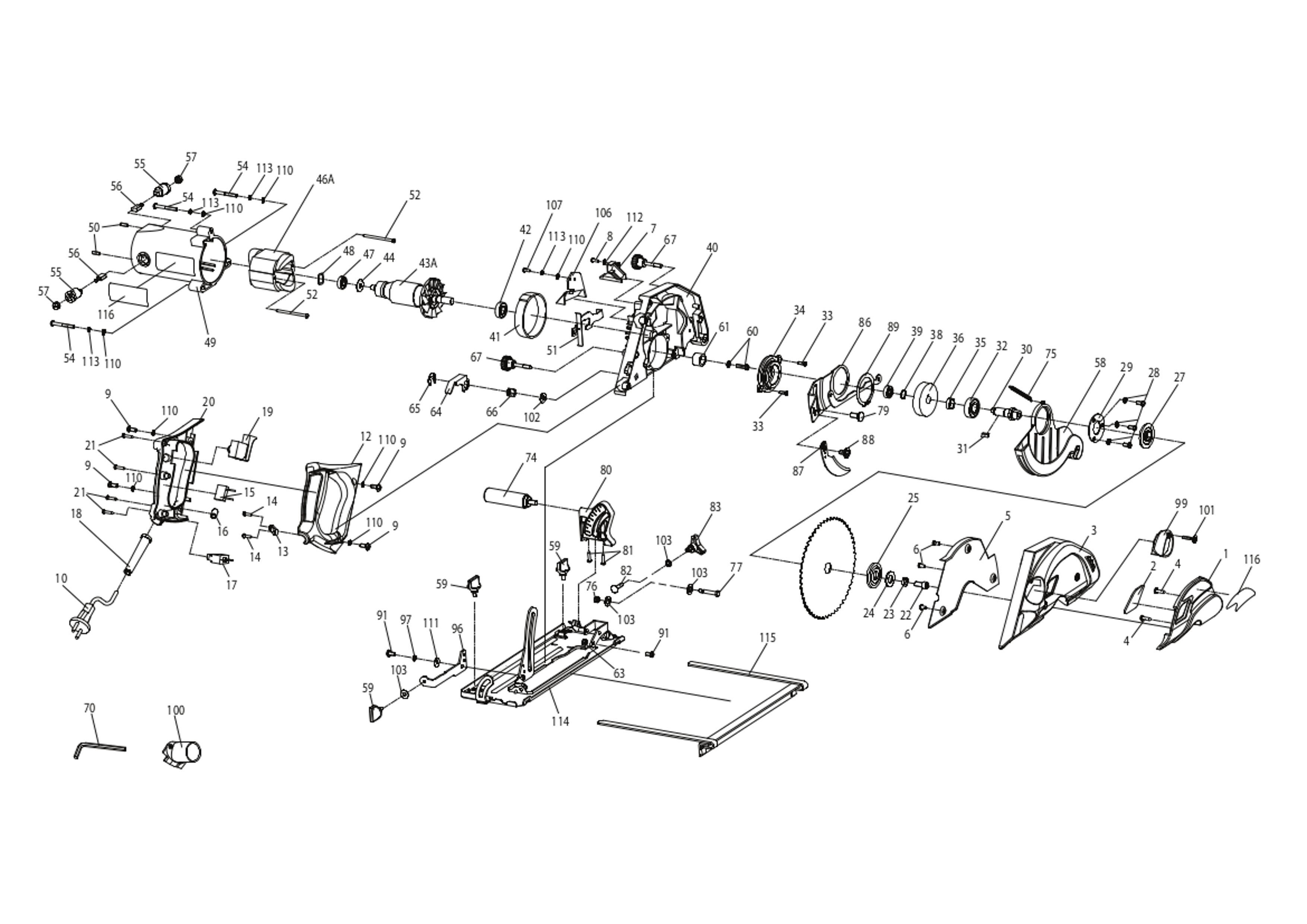 Enjoyable Spares For Evolution Evosaw180Hd 230V 180Mm Industrial Circular Saw Wiring Cloud Brecesaoduqqnet