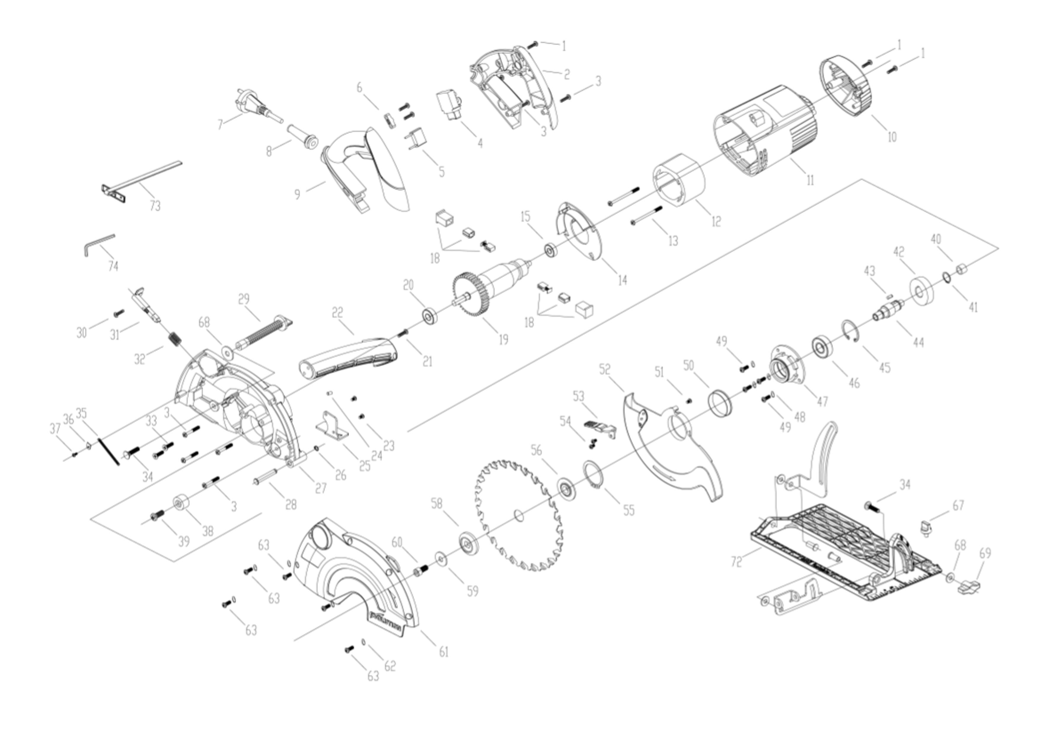 Pleasing Spares For Evolution Fury1 B 185Mm Multipurpose Circular Saw Spare Wiring Cloud Brecesaoduqqnet