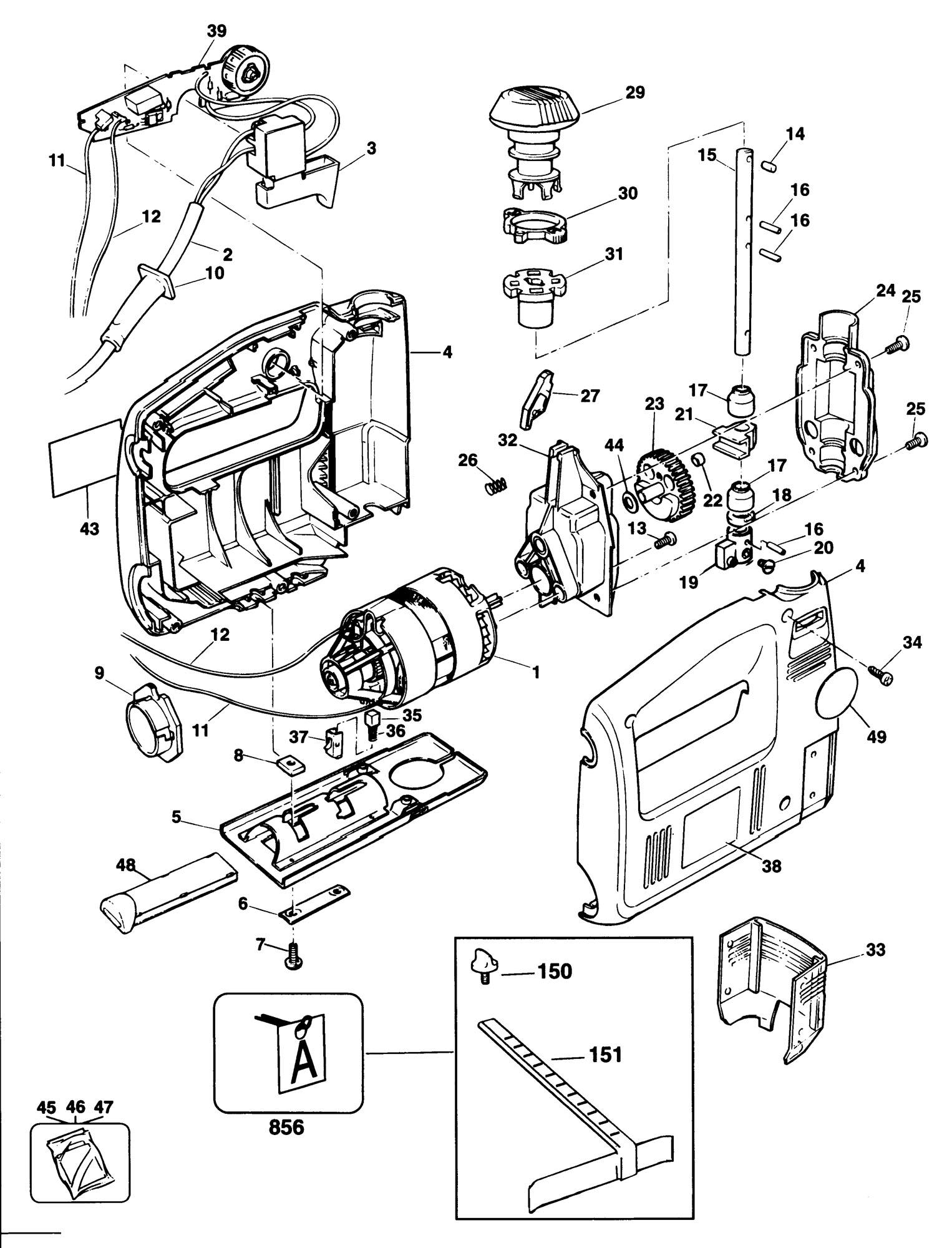 Spares For Black  U0026 Decker Dn538se Scroller Jigsaw  Type 1