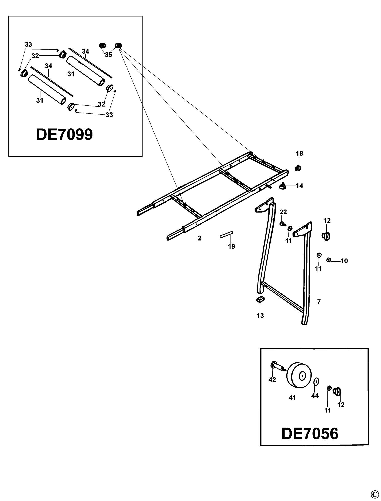 Spares For Dewalt De7099 Roller Support Type 4 Spare De Walt Power Tool Wiring Diagrams Click Bigger Diagram