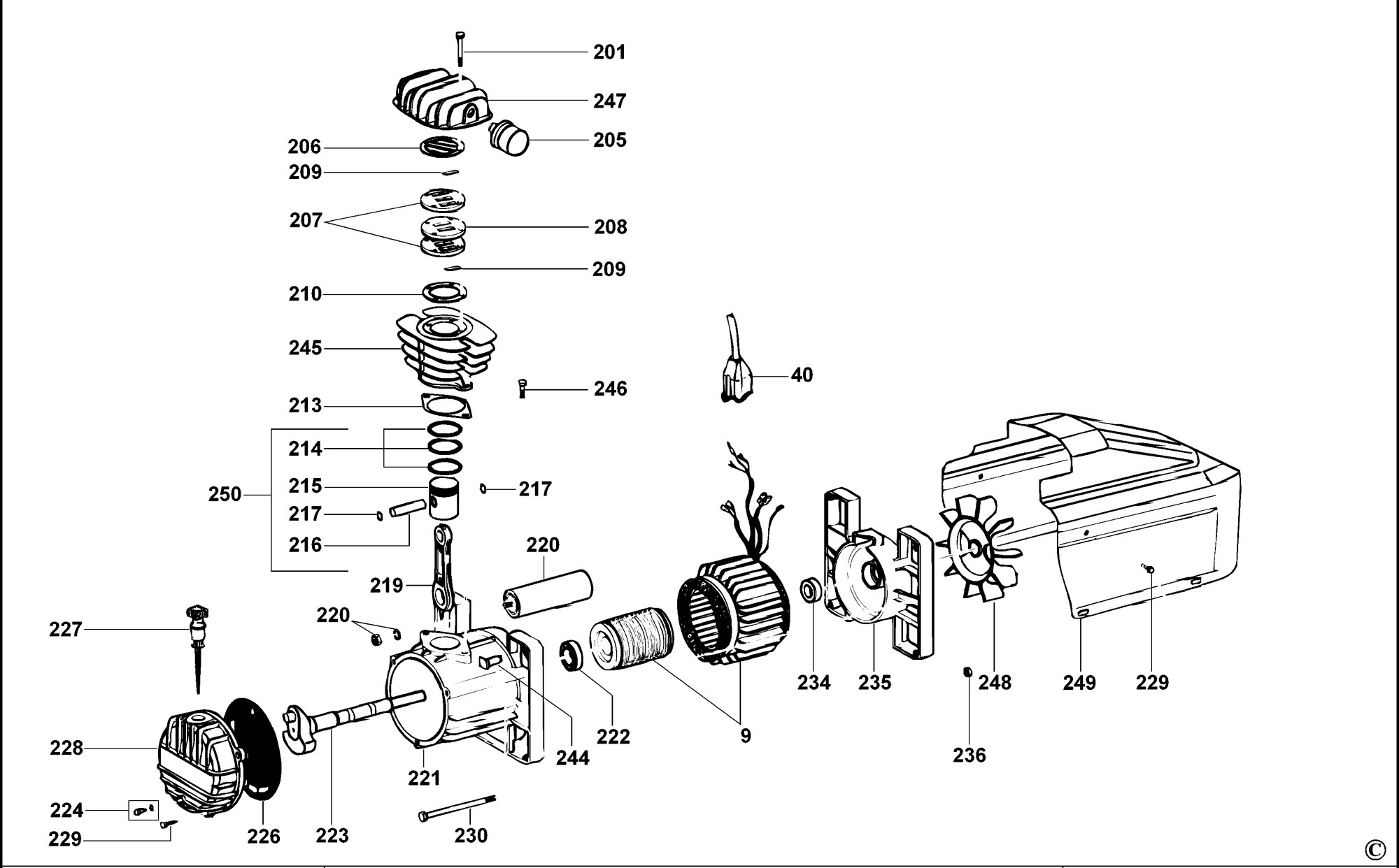 Spares For Dewalt D55155 Compressor Type 2 Spare De Walt Power Tool Wiring Diagrams Click Bigger Diagram