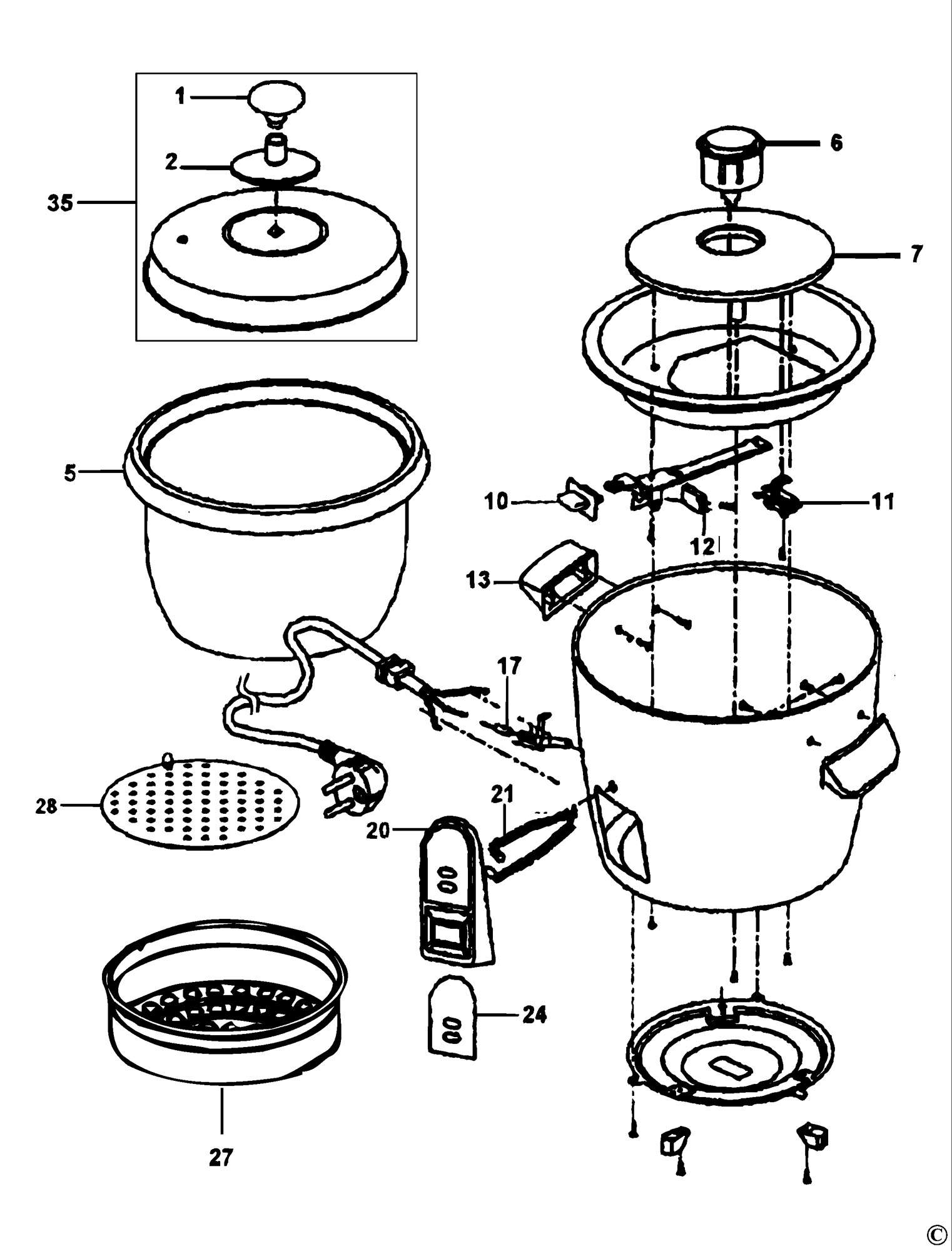 spares for black  u0026 decker rc32 rice cooker  type 1  spare rc32  type 1 from power tool centre