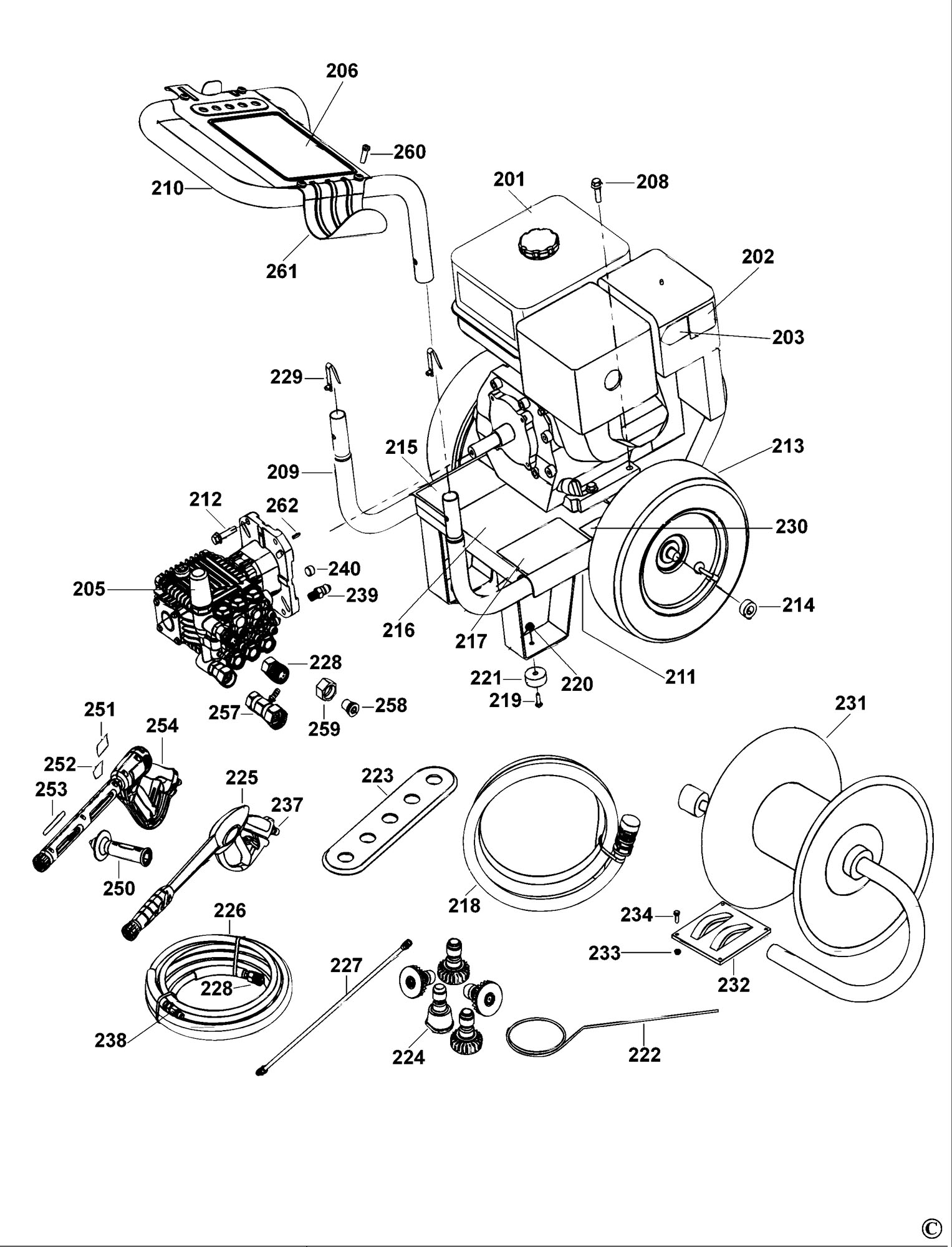 Spares for dewalt dp3750 pressure washer type 1 sparedp3750 click for bigger diagram pooptronica Gallery