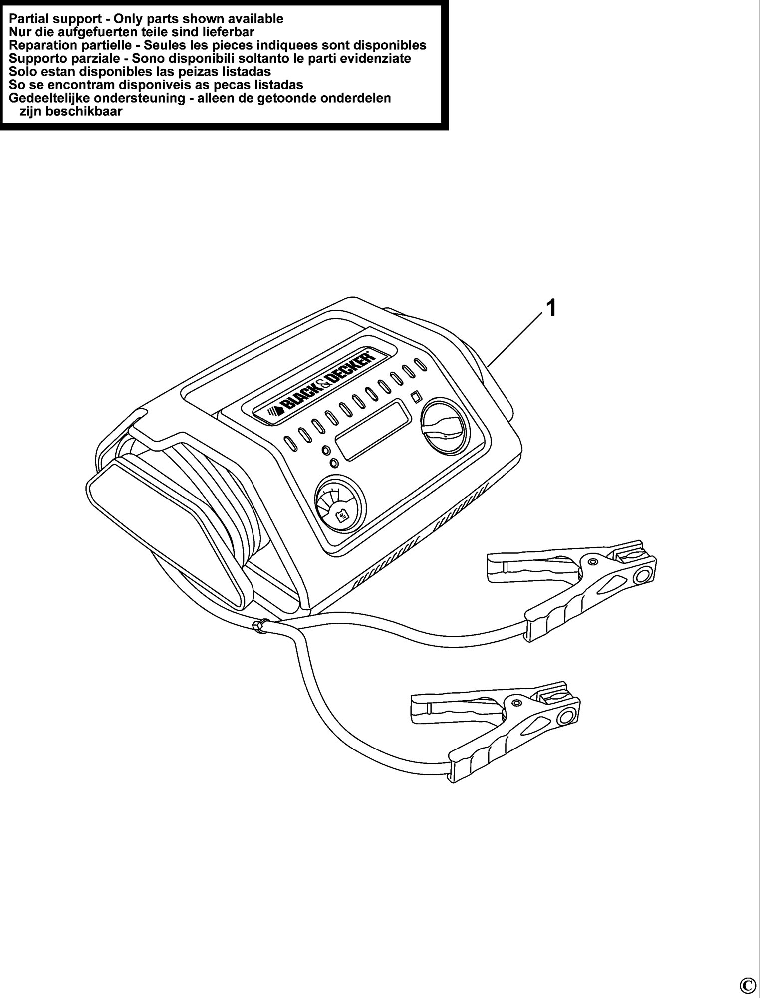 Spares for Black & Decker Bdsbc25a Battery Charger (type 1 ...