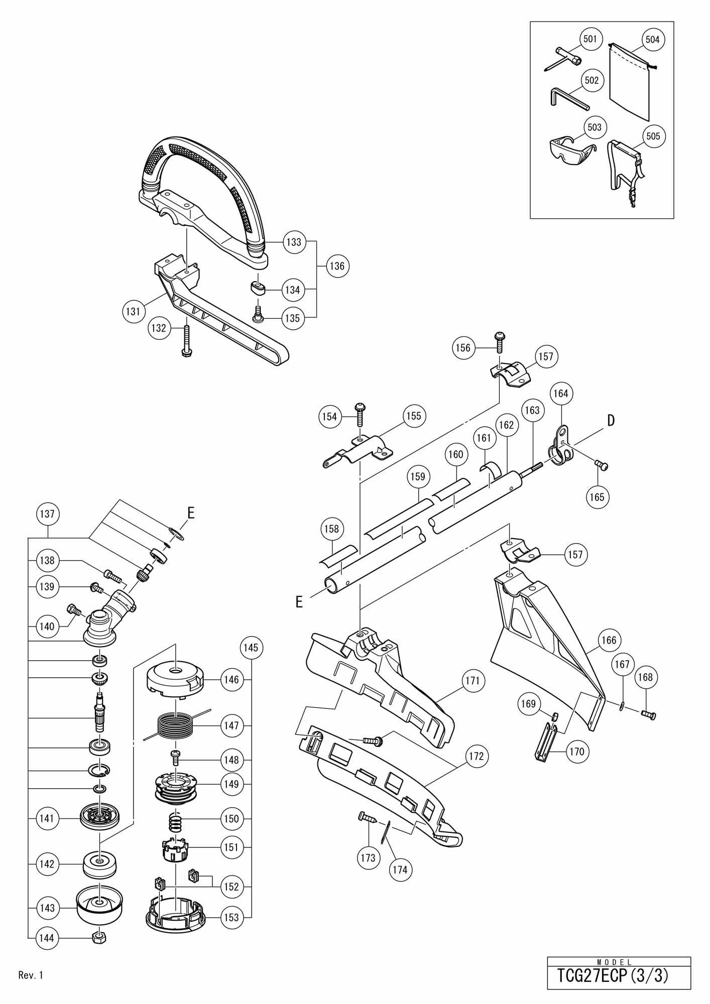 Spares For Hitachi Engine Grass Trimmer Brush Cutter Tcg 27ecp Ecp Wiring Diagram Click Bigger
