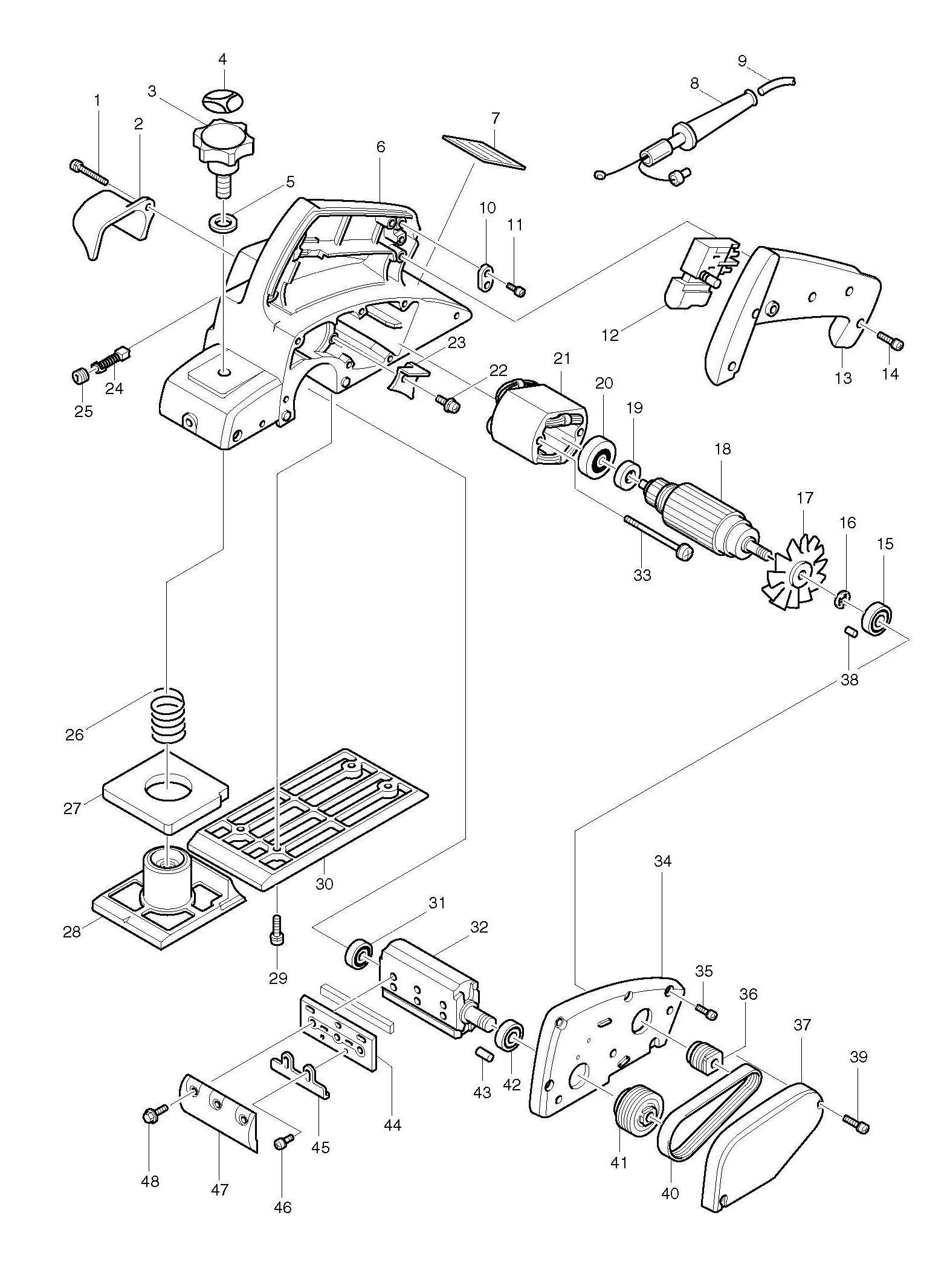 Spares For Makita 1902 110v 240v Corded Planer Spare Parts