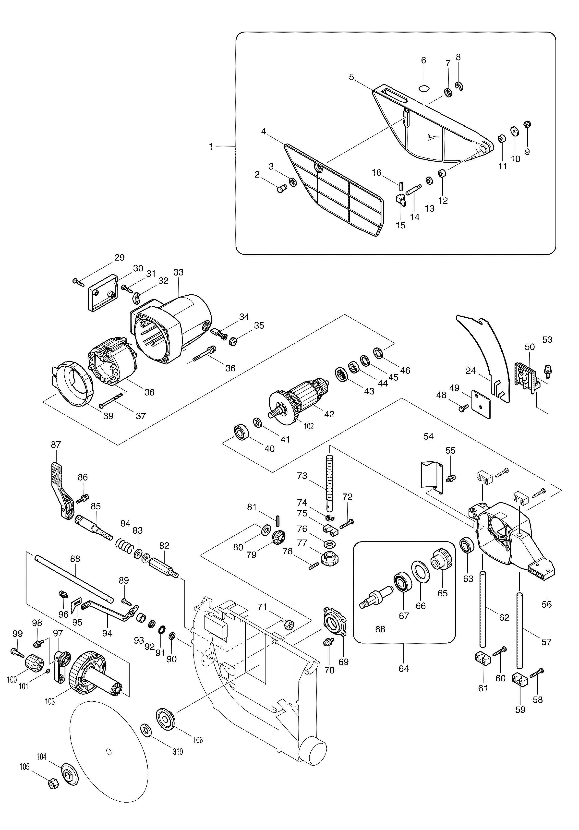 Makita table saw diagram wiring library spares for makita 2704 table saw spare 2704 from power tool centre rh ptctools co uk makita table saw wiring diagram makita table saw wiring diagram keyboard keysfo Choice Image
