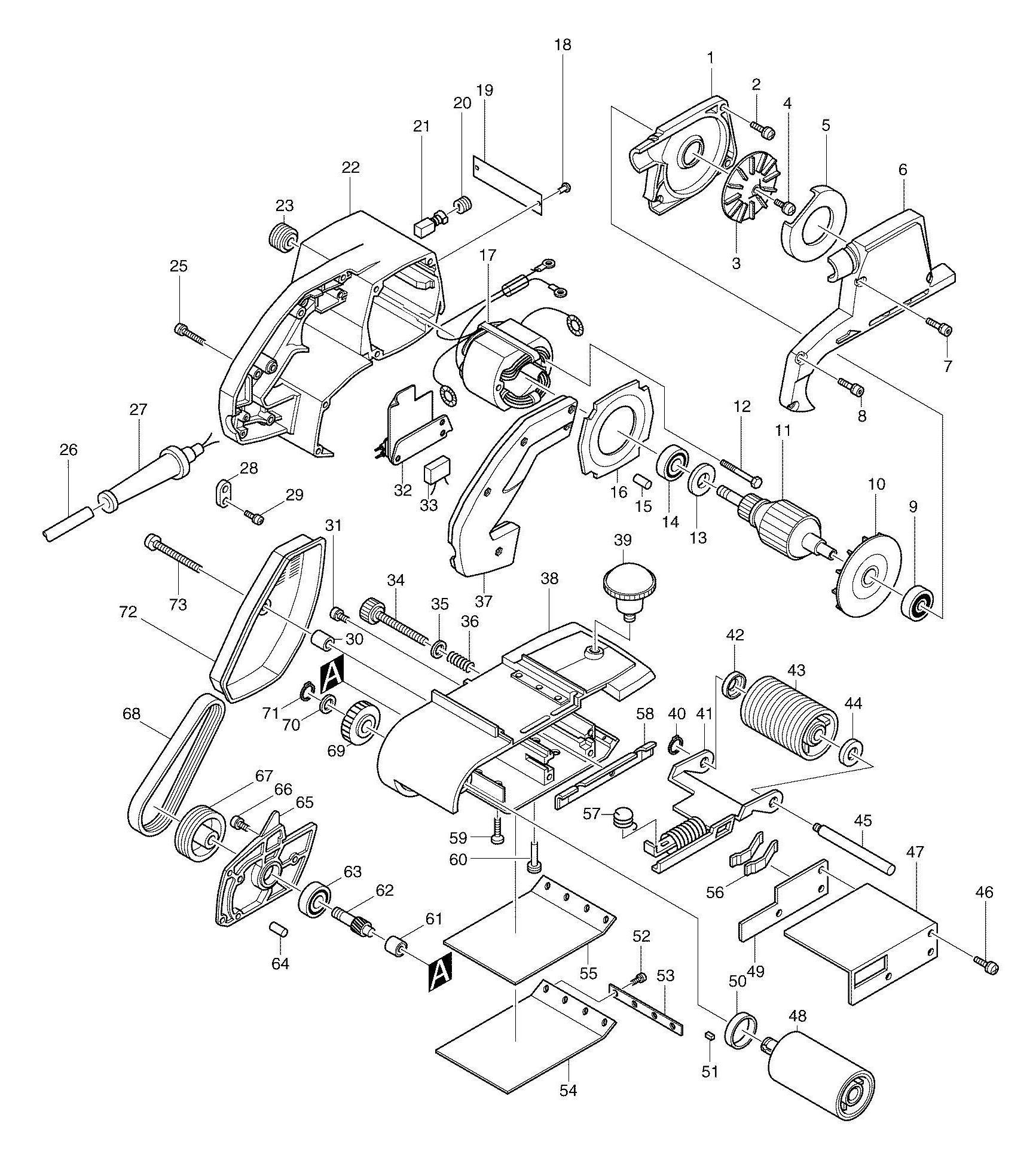 Spares For Makita 9401 Corded Belt Sander 100 X 610mm 110v