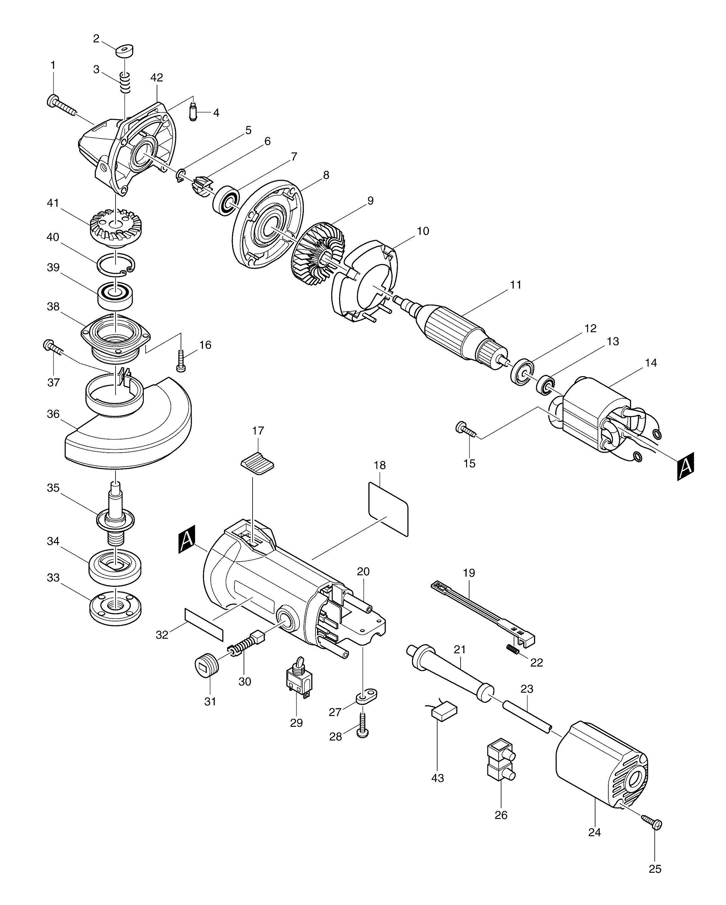 Spares for Makita 9527nb Angle Grinder SPARE_9527NB from Power Tool on grinder pumps diagram, grinder motor, grinder parts, grinder accessories,