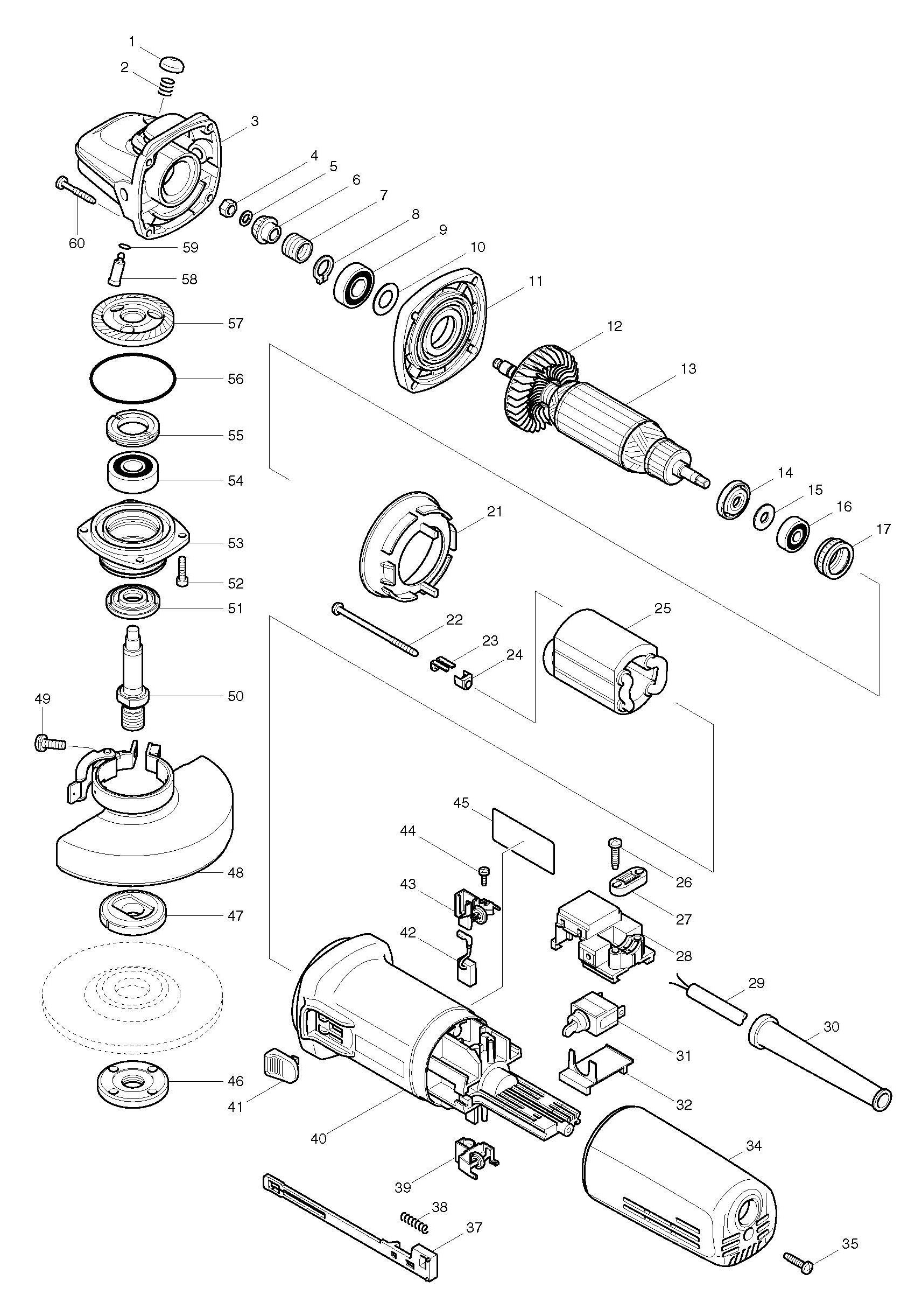 Makita Grinder Wire Diagram Electronicswiring Click For Bigger