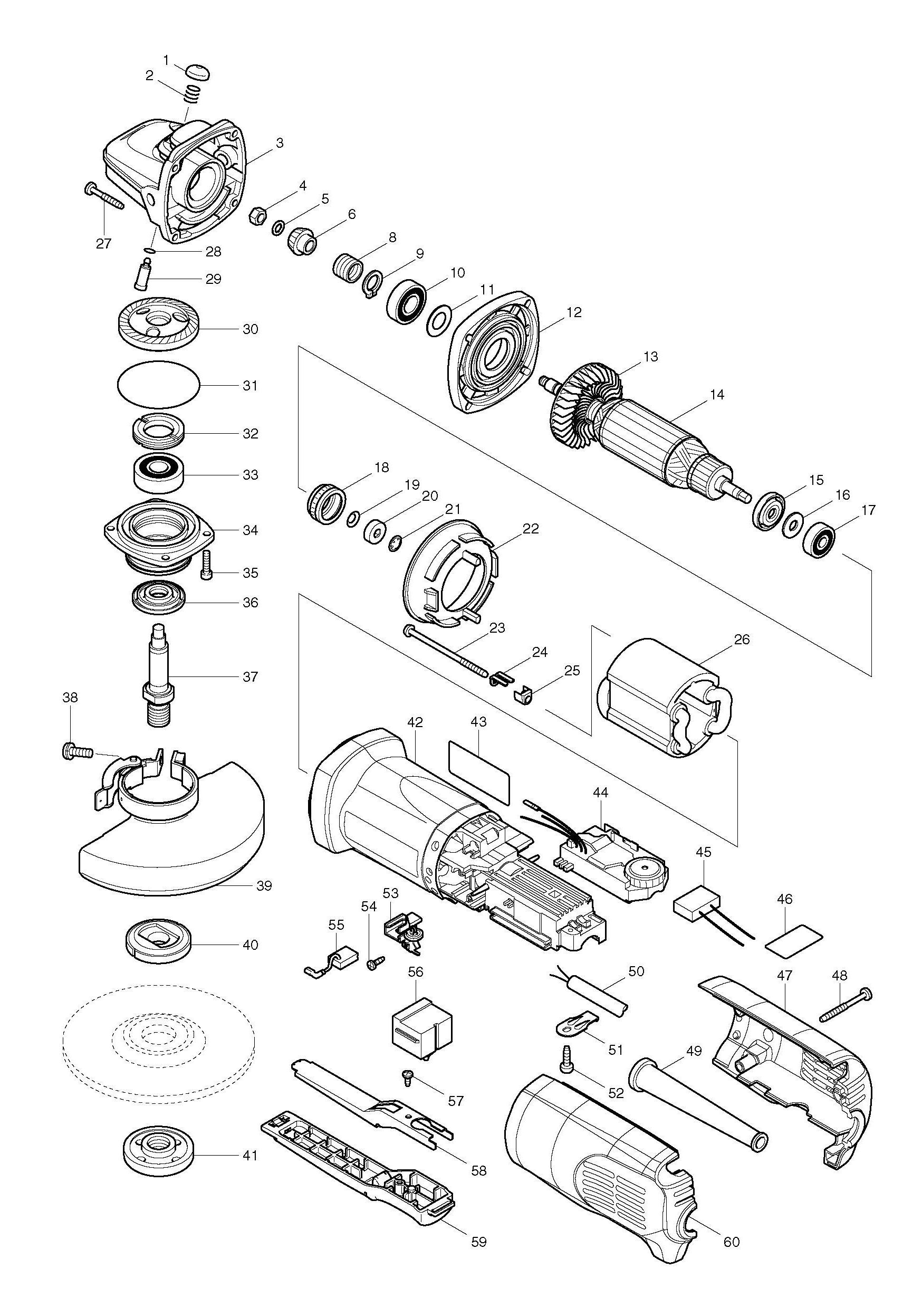 Makita Grinder Wiring Diagram Trusted Wiring Diagrams Rh Wiringhubme Today  On Makita Angle Grinder Parts For Makita Grinder Wire Diagram Trusted Wiring  ...