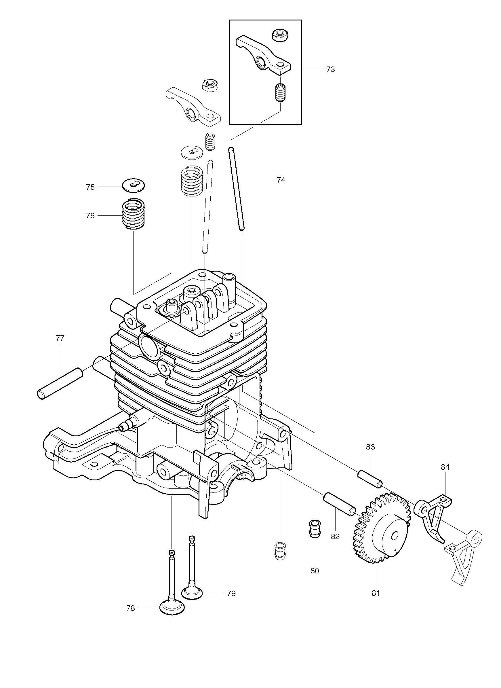 Spares for Makita Bhx2500 4 Stroke Petrol Blower SPARE BHX2500 from
