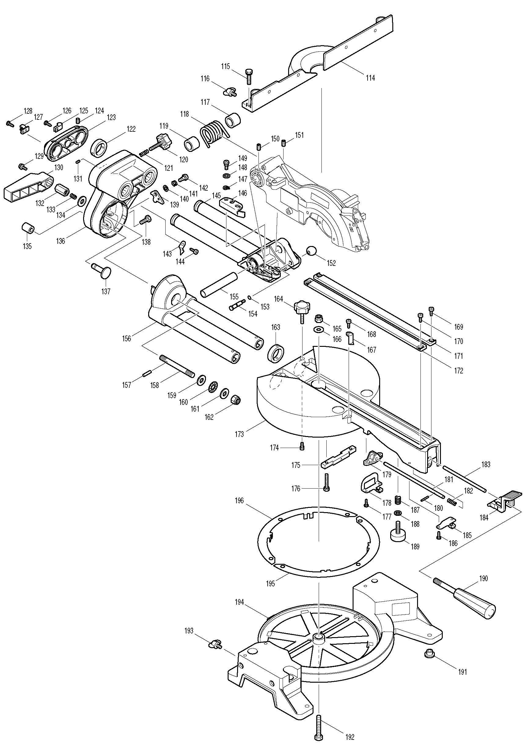 spares for makita ls0714fl saw spare ls0714fl from power