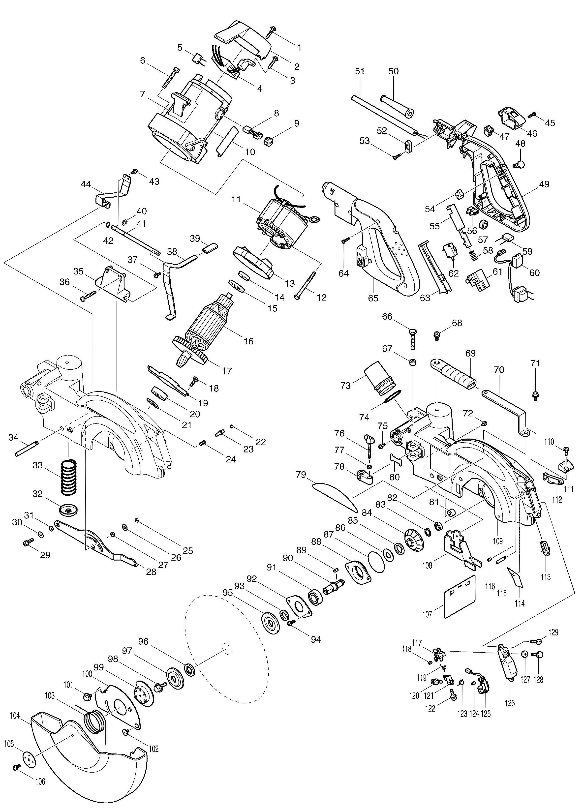 Makita miter saw switch wiring diagram product wiring diagrams spares for makita ls1013l slide compound mitre saw 260mm with laser rh ptctools co uk craftsman table saw wiring diagram gmc compound miter saw manual keyboard keysfo Images