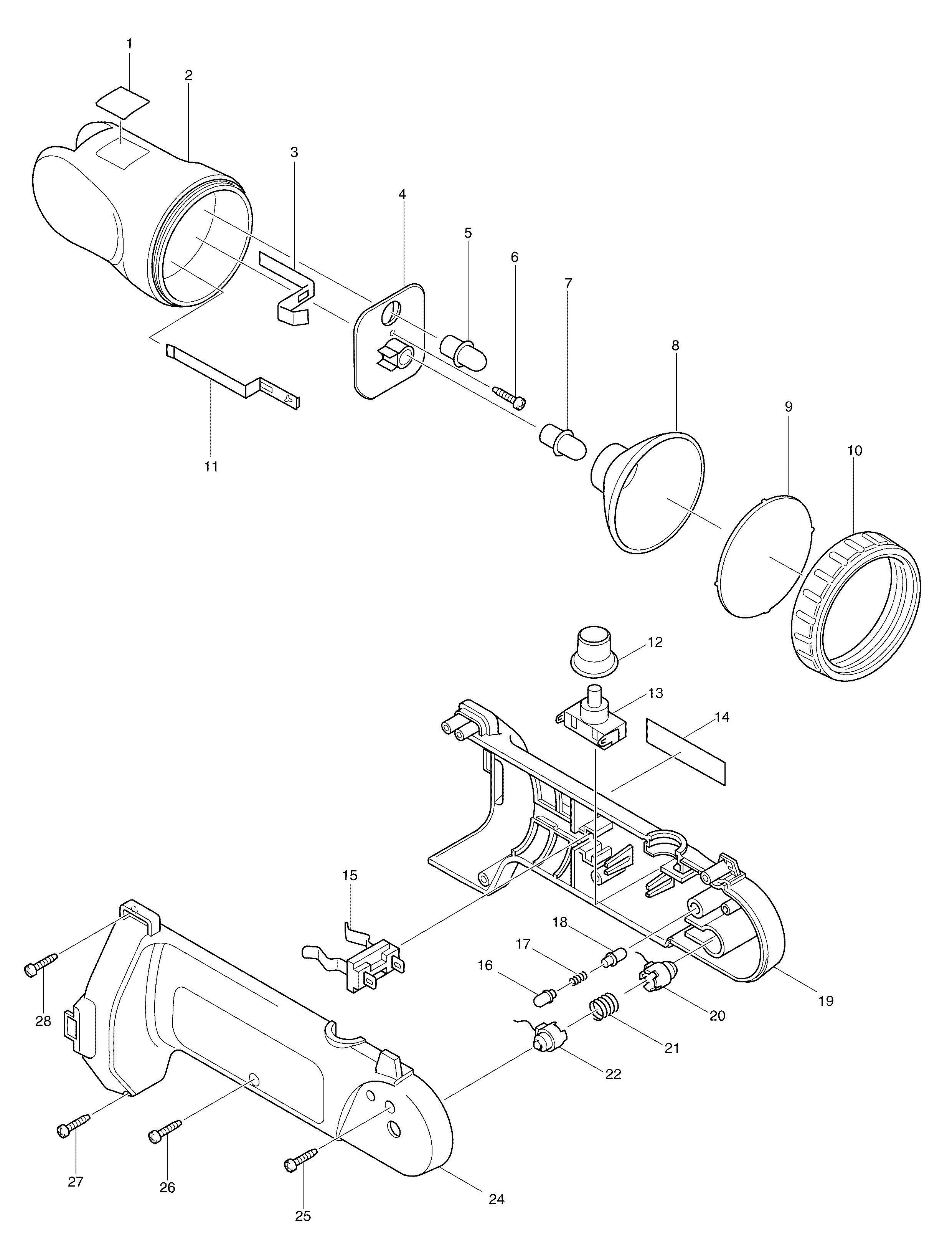 spares for makita ml180 torch spare ml180 from power tool